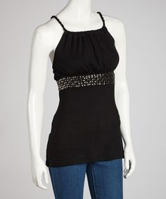 Take a look at this Black Rope Racerback Tank on zulily today!