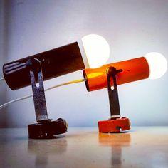 "Polubienia: 16, komentarze: 1 – modern (@modern_old2new) na Instagramie: ""Set of atomic enamel metal sconces #set #lamp #wall #enamel #metal #sconces #atomic #space #age…"" Desk Lamp, Table Lamp, Mid-century Modern, Modern Design, Mid Century Modern Lamps, Space Age, Sconces, Enamel, Metal"