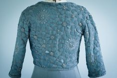 Pleasant View Schoolhouse: Blue-Gray Facets: An Alabama Chanin Jacket