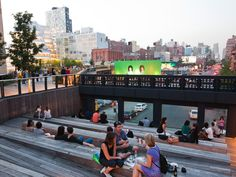 Photo of the Week: Evening in the 10th Avenue Square | The High Line Blog