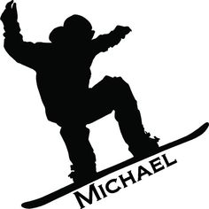 Personalized Snowboarder Wall Art Decor Vinyl Letter Decal