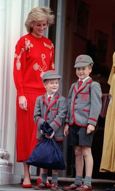 Mirror Online New term: Princess of Wales takes William and Harry to Wetherby in September 1989 for the start of a new school term