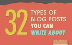 What type of #blogs you can create. 32 of them listed here/ #contentmarketing #blogging
