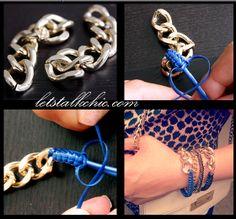 Sugar and Chic: DIY chain bracelet