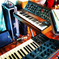 """Marc Doty's Minimoog from Bob Moog Foundation's """"Celebrate Bob Day"""" to commemorate 78th birthday. Same day the Moog Doodle went online."""