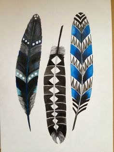 Feather. Ink on paper Phoebe Jost art