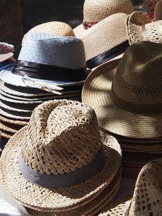 not Haute couture chapeaux, but very charming: Provencal Market, Eygalieres - Vicki Archer