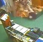 Just a Guy Falling Through the Roof at a Golf Pro Shop, Then Posing for Some Pictures [Video]