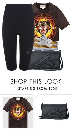 """""""Why you pulling all these rappers cards?"""" by trilltommie ❤ liked on Polyvore featuring Gucci and Lucas Hugh"""