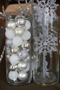 Beauty on a Budget - Dollar Store Vases and Decorations - Imagine a mantle display with many of these straight-sided vases, each one filled a bit differently - and some containing flickering votives.