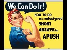 How to do the Short Answer Section for APUSH - YouTube