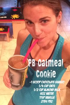 PB Oatmeal Cookie Shakeology, Shakeology Recipes, Clean eating, meal replacement, 21-day fix