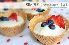 4th of July Desserts Simple+Cheesecake Tart | DIY Projects & Crafts by DIY JOY at http://diyjoy.com/4th-of-july-desserts-pinterest