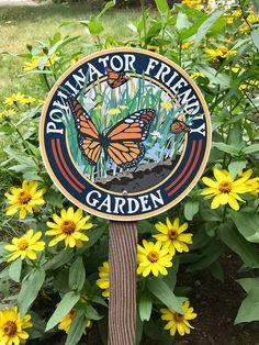 Butterfly Pollinator Friendly - Garden Sign — The Victory Garden of Tomorrow Dream Garden, Garden Art, Tire Garden, Sunken Garden, Garden Paths, Garden Beds, Victory Garden, Garden Signs, Gardens