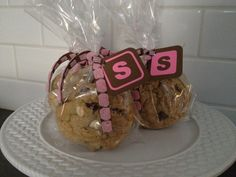 cookie treat bags for a baby shower.