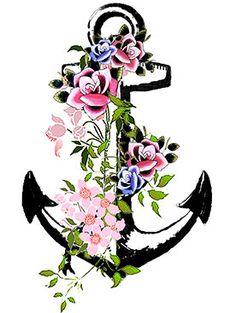 Vintage Anchor temporary tattoo 3x2 por Inkweartattoos en Etsy