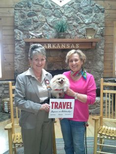Travel goes to the dogs at the Arkansas Welcome Center in Blytheville, AR during National Travel & Tourism Week! #NTTW14 #VisitArkansas