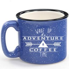Limited Edition! Camp Blue Adventure & Coffee Ceramic Stoneware Campfire Mug!! by SeaJayShop on Etsy https://www.etsy.com/listing/233021095/limited-edition-camp-blue-adventure