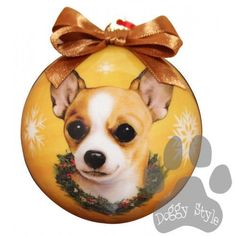 Chihuahua Tan Shatterproof Dog Breed Christmas Ornament http://doggystylegifts.com/products/chihuahua-tan-shatterproof-dog-breed-christmas-ornament