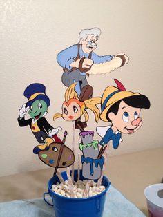 Pinocchio Centerpiece Disney by CSCuteCrafts on Etsy, $30.00