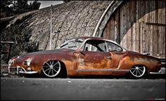 Karmann Ghia. Needs bodywork but look at the lines on that baby
