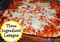 Three Ingredient Lasagna #recipe