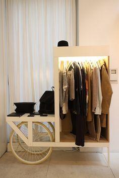 /men ever day cloth hanger or Retail Inspiration/ /Category: Retail, shop-in-shop, pop-up shop/ /Keyword: Mobile, wood, display/ Baerck Berlin by Petite Passport Hotel Boutique, Boutique Interior, Interior Shop, Retail Interior, Visual Merchandising, Tienda Pop-up, Pop Up Market, Clothing Displays, Retail Concepts