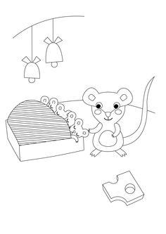 Värityskuva | free printable pattern | lasten | lapset | joulu | idea | askartelu | kädentaidot | käsityöt | tulostettava | kuva | paperi | värittäminen | väritys | värittää | hiiri | koti | leikki | DIY | ideas | kids | children | crafts | paper | picture | coloring | mouse | christmas | home | Pikku Kakkonen