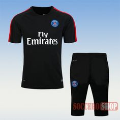 Top Selling:Awesome Casual PSG Paris Saint Germain 2016 2017 Black T Shirt Kits Thailand Personalised