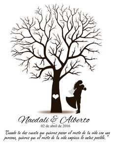 Boda Wedding Tree Guest Book, Guest Book Tree, Tree Wedding, Wedding Guest Book, Wedding Gifts, Silhouette Art, Silhouette Projects, Quilling Letters, Tree Stencil