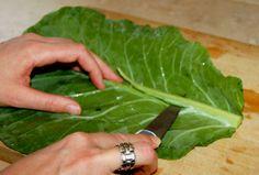 Better Than Tortillas! Blanch Collard Greens To Use As Wraps - mindbodygreen