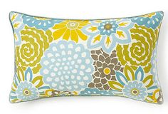 Would love to do a whole room off this pillow!  Jiti 12x20 Bloom Pillow, Sky  $69.00  $150.00 Retail One kings lane