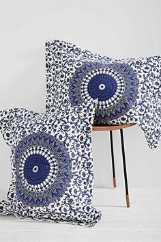 Magical Thinking River Medallion Sham Set- Blue One