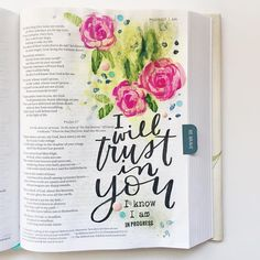 """Repost・・・""""I tried my first shot at Bible journaling in The Beautiful Word Bible! I'll share a time lapse video soon with a list of supplies I used. Check out for more inspiration and a huge community of passionately creative people! Scripture Art, Bible Art, Bible Quotes, Bible Verses, Scriptures, Diy Inspiration, Journal Inspiration, Beautiful Word Bible, Bible Drawing"""