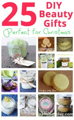 Create something on the cheap and handmade --- DIY Beauty Gifts - From foot scrubs to bath fizzies, your friends and family will love these!