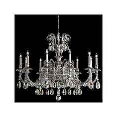 Schonbek Genzano 11 Light Crystal Chandelier Finish: Polished Silver, Crystal Type: Spectra Clear