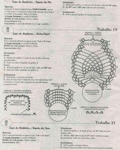 Bath Crochet Patterns Part 6 - Beautiful Crochet Patterns and Knitting Patterns Owl Crochet Patterns, Crochet Owls, Stitch Patterns, Knitting Patterns, Crochet Diagram, Crochet Chart, Free Crochet, Crochet Sachet, Crochet Kitchen