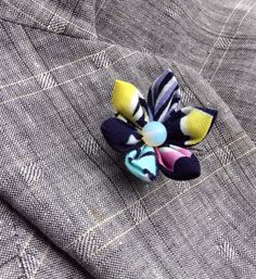 Colorful Boutonniere Mens Lapel Pin Flower Lapel  Pin Custom Lapel Pins Men Kanzashi Pin Japanese Cotton Lapel Flower Gifts For Men by exquisitelapel on Etsy https://www.etsy.com/listing/452999806/colorful-boutonniere-mens-lapel-pin