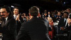 Leo + Kate FOREVER! (Embracing after Leo won for best actor at SAG)