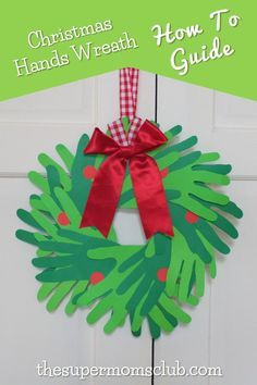 This is such a special idea to make with your kids. Go to thesupermomsclub.com to see the instructions on how it's made. Free Food, Free Printables, Christmas Crafts, Diy Crafts, Wreaths, How To Make, Recipes, Kids, Young Children
