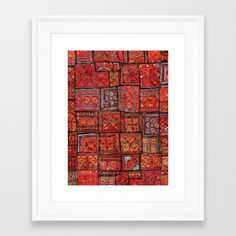 Buy Red Traditional Moroccan Design - A3 Framed Art Print by mr0frankenstein. Worldwide shipping available at Society6.com. Just one of millions of high quality products available.