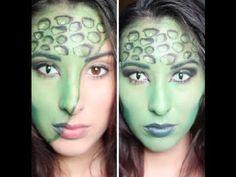 Lizard Girl Halloween Makeup Tutorial