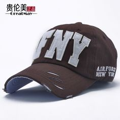 LUN Men Hats Summer Korean Baseball Cap AFNY Outdoor Visor Cap Hats 14839601965