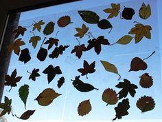 Laminated Leaves Window Decorations