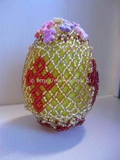 Beaded Cross Egg PATTERN