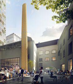 Galería de Transborder Studio transformará fábrica de Oslo en nuevo barrio…
