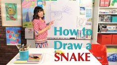 How  to Draw a Snake - Great Artist Mom - Guided Drawing