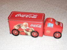 2003 Coke Coca Cola Tin Christmas Santa Child Semi Truck Toy with Wheels Mint | eBay
