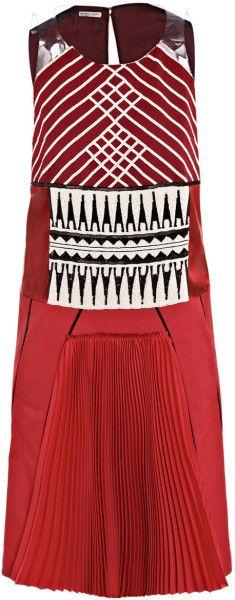 Bottega Veneta Embroidered Bodice Dress @Lyst