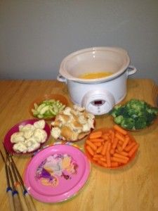 Easy & Frugal Cheese Fondue – Family Friendly!